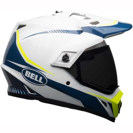 Bell MX-9 Adventure Mips Torch Helmet - White Blue Yellow