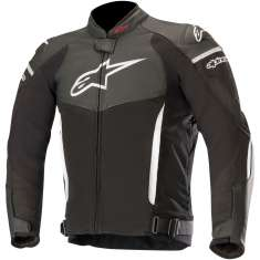 Alpinestars SPX Leather Jacket - Black White
