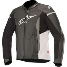 Alpinestars Faster Leather Jacket - Black White