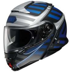 Shoei Neotec 2 Splicer TC2 Helmet - Silver Blue Black