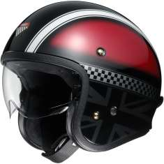 Shoei J-O Hawker TC-1 Helmet - Black Red