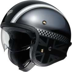 Shoei J-O Hawker TC-5 Helmet - Black White