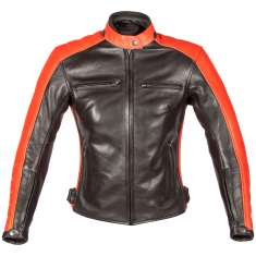 Spada Turismo Leather Jacket Ladies - Black Red