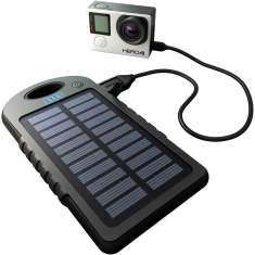 GoPole Dual Charge - USB Powerbank with Solar Charge