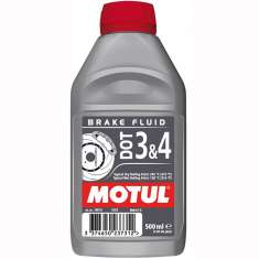 Motul DOT 3 + DOT 4 Brake Fluid - 500ml