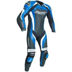RST Tractech Evo III Leather Suit 2041 CE 1 PC - Black Blue