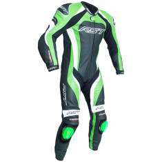 RST Tractech Evo III Leather Suit 2041 CE 1 PC - Black Green