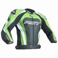 RST Tractech Evo III Leather Jacket 2051 CE - Black Green