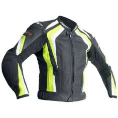 RST R-18 Leather Jacket 2069 CE - Black Yellow