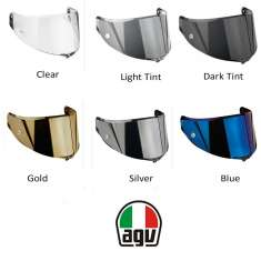 AGV GT3 Sports Modular Anti-Scratch Pinlock Ready Visor - Silver