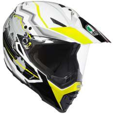 AGV AX8 Dual Evo Earth Helmet - White Black Yellow
