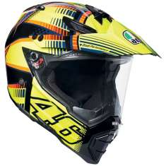 AGV AX8 Dual Evo Soleluna Helmet - Yellow Black Orange