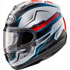 Arai RX-7V Scope Helmet - White Red Blue