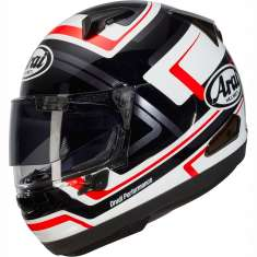 Arai QV Charged Helmet - Black White Red