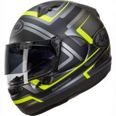 Arai QV Charged Helmet - Black Grey Yellow
