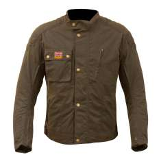 Merlin Stafford Wax Jacket Airbag Compatible WP - Khaki