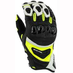 Richa Stealth Gloves - Black White Yellow