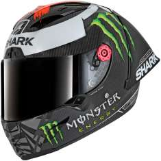 Shark Race-R Pro Carbon Winter GP Limited Edition Lorenzo DRS Helmet - Grey Red Green