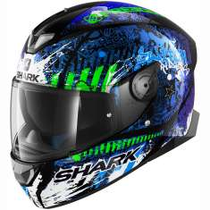 Shark Skwal 2 Switch Rider 2 Helmet KBG - Blue Black Green