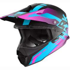 Shark Varial Anger Helmet KBV Ladies - Black Blue Purple
