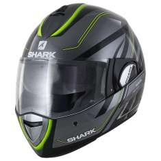 Shark Evoline 3 Hirium AKY Helmet - Grey Black Green