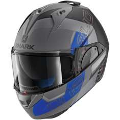 Shark Evo-One 2 Slasher Helmet MAT AKB - Grey Matt Black Blue