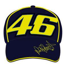 VR46 Vale Yellow Signature Cap - Blue Yellow