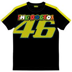 VR46 The Doctor T Shirt - Black Yellow