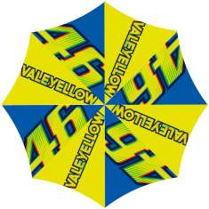 VR46 Vale Yellow Large Umbrella - Blue/Yellow
