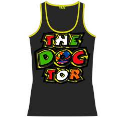 VR46 The Doctor Tank Top - Grey Yellow