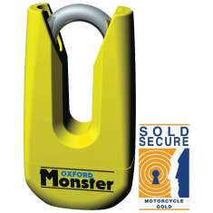 Oxford Monster Disc Lock Thatcham Approved - Yellow