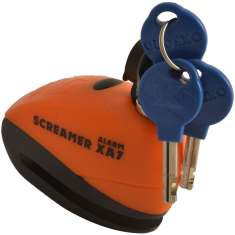 Oxford Screamer XA7 Alarm Disc Lock - Orange Matt Black