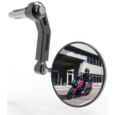 Oxford Premium Aluminium Bar End Mirror Left Side - Black
