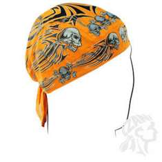 Zan Headgear Flydanna Hat Bandana - Tribal Skull