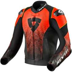 Rev It! Quantum Leather Jacket Air - Black Red