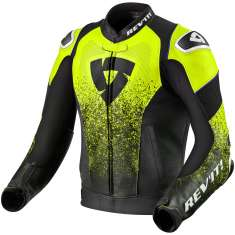 Rev It! Quantum Leather Jacket Air - Black Yellow