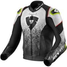 Rev It! Quantum Leather Jacket Air - Black White