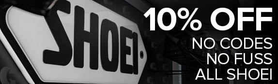 10% OFF Shoei Helmets
